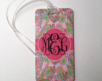 Luggage Tag | Custom Luggage Tag  | Personalized Luggage Tag | Monogram Luggage Tag | Monogram Gift | Bridesmaid Gift | Graduation gift