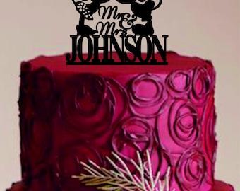 disney wedding cake toppermickey and minnie cake toppermr and mrs cake topper