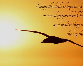 Life saying magnet, appreciate the little things gannet photo from original photograph by R&M Photography