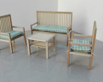 """outdoor furniture """"line"""" for dolls house"""