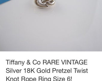 Tiffany and Co RARE Ring