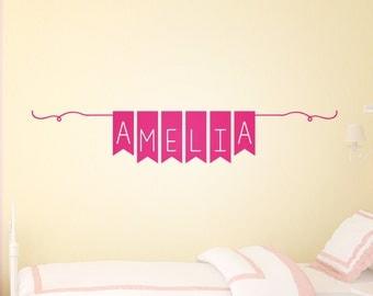 Girls Wall Decor - Girls Name Wall Decal – Personalized Girls Name Decal - Wall Stickers for Girls