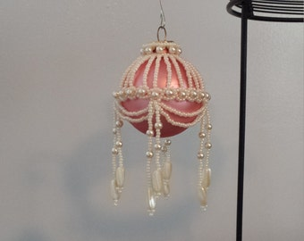 Victorian Cream and Pink Ornament Cover