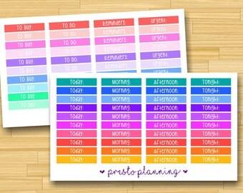 Custom Header Bars Erin Condren Life Planner Stickers - 40 per sheet