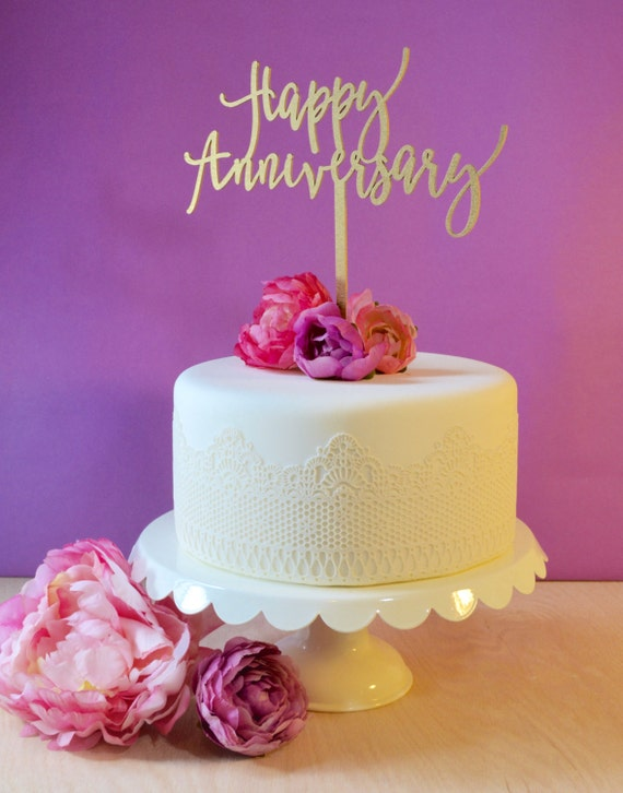 wedding cake first year anniversary wedding cake topper happy anniversary year 22622