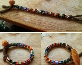 Ndebele beaded/ Tubular herringbone beaded bracelet