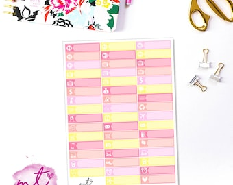 Meet Me In Paris Little Things/Labels || Vertical || 47 Planner Stickers || Erin Condren Life Planner