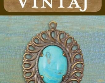 Vintaj Tranquility Lace Pendant