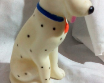 Squeaky Dalmation Rubber Toy