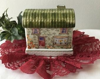 Vintage Poreclain Cottage Night Lite