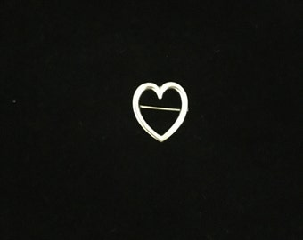 Victorian Sterling Silver Heart Pin
