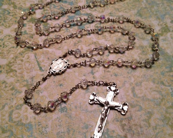 6mm AB Crystal Glass Rosary