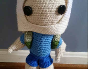 Adventure Time Finn Crochet Doll