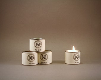 Man-candle - small paint pot 55g  Eco soya candle in cologne