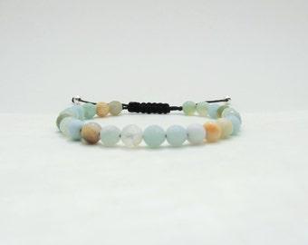 Amazonite bracelet - Man gemstone bead bracelet