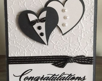 C10 Wedding handmade card, Congratulations wedding card