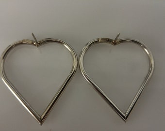 Sterling Heart Shaped Earrings