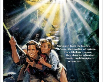 Romancing The Stone Movie Poster Michael Douglas Adventure Love Action 24x36