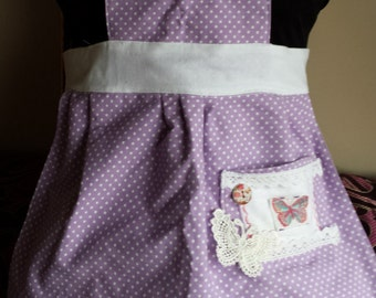 pretty girls apron/ pinnie , Laura Ashley fabric, coordinating ladies apron available