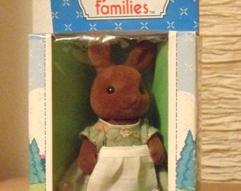 Vintage 1980s Sylvanian Families Brown Rabbit mother by Tomy & Sylvanian family | Etsy