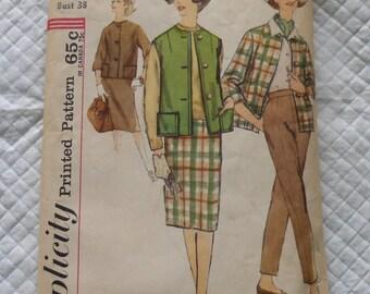 Vintage 60's UNCUT new Simplicity Pattern 4098