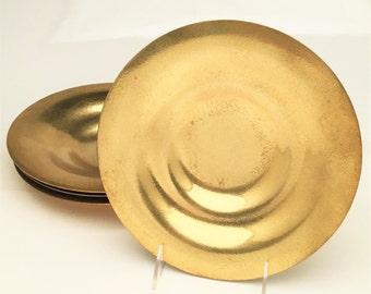 Set of 4 Arts and Crafts Era Tiffany Studios Bronze 'd'ore' Bowls, ca 1900-1930