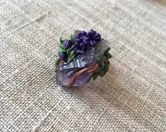Lilac amethyst ring