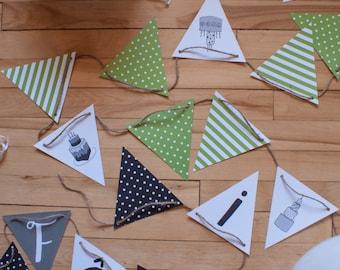 Fanions_Du Gâteau! & Bonne fête!_1 | décoration | fête | anniversaire | fanions | impression | flag banner | birthday | decoration | print