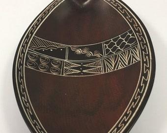 Handmade Kenyan Brown Soapstone tray