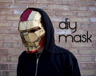 Iron Man Mask - Make your own with a PDF Download - iron man costume, diy, iron man helmet, ironman helmet, ironman mask, cosplay