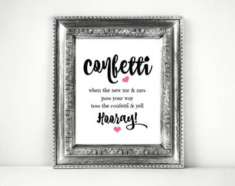 Confettti Sign Printable For A Wedding Send Off ~SKU: CWS303_0622CBS