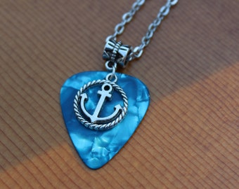 Customizable Guitar Pick and Charm Necklace