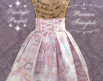 Elegant/Sweet Lolita High-Waist Skirt  ~Parisian Fairytale~  Made to Order