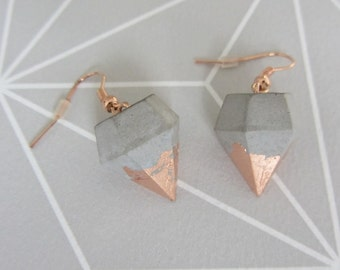 Concrete earrings diamonds * new spring *.
