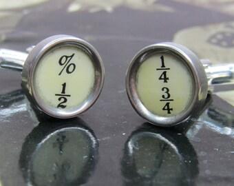 1930's Vintage Typewriter Key Cufflinks