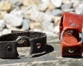 Leather bracelet, Soft leather wrist band