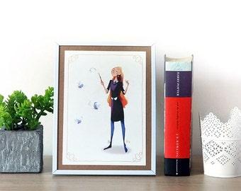 Luna Lovegood & Nargoles - Print