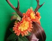 Faun satyr antler head dress cosplay costume real deer antler