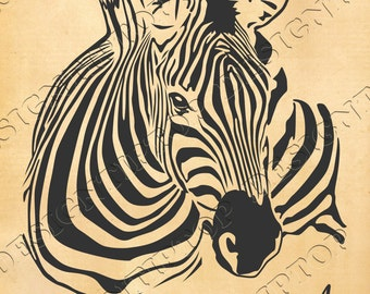 Zebra, zebra SVG, silhouette zebra with quote, stencil template files for  DIY, tattoo design, zebra print svg, print on tshirt, wall decor