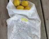Upcycled Produce Bag /  Zero Waste / Reusable Produce Bag / Reusable Bag / Produce Bag/  Lace Produce Bag
