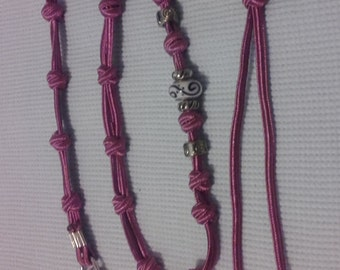 Hand knotted pet lead - Bead embellished pet leash - Best for small pets under 5kg