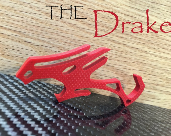 Red G10 Chinese Dragon Pocket Clip Bottle Opener -Minimalist iPhone Travel Cell Phone Stand, Novelty Keychain Tool, Gift for Him, Drake