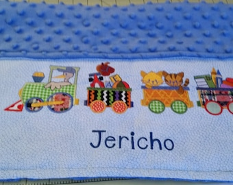Portable Changing Pad/ Personalized Changing Pad/ Baby Boy Shower Gift Ideas/ Train Baby Mat/ Choo Choo Changing Pad/ Appliqued Changing Mat