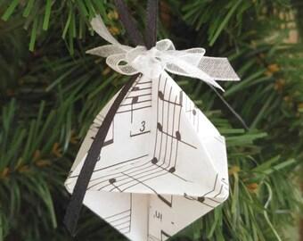 Music Christmas Tree Ornaments/Paper X-mas Ornaments/Sheet Music Paper Ornament Set/Musical Christmas Tree Theme Ornaments/mini music tree