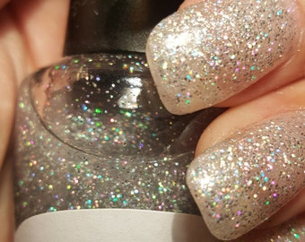 "Unique Holographic ""All That Glitters"" Glitter Nail Polish/Topper Full Size 15ml Bottle"