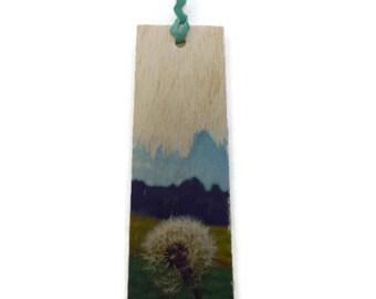 Wooden bookmark - Wood Bookmark - bookmark - Dandelion bookmark - Wish bookmark - Handmade bookmark - Unique bookmark - Dandelion - Wish