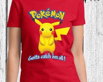 FREE SHIPPING Pokemon Women Shirt - Pikachu Women Shirt - Pokemon Shirt - Pikachu Shirt - Pokemon For Women - Pikachu for Women