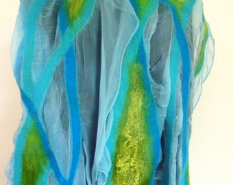 Summer felted scarf