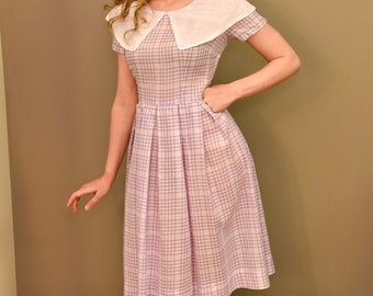 1940/1950's Purple Checkered Dress