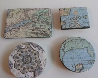 Map Magnet Set